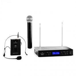 Malone VHF-400 Duo 3, 2kanálová sada VHF bezdrátových mikrofonů, 1 x headset mikrofon + 1 x ruční mikrofon