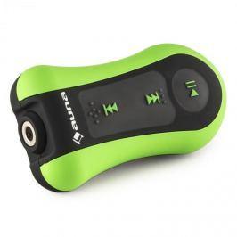 Auna Hydro 4, zelený, MP3 přehrávač, 4 GB, IPX-8, vodotěsný, úchytka, včetně sluchátek