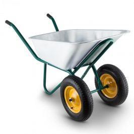 Waldbeck Heavyload kolečko, 120l, 320kg, zahradní kolečko, 2kolečkové, ocel, zelená