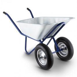 Waldbeck Heavyload kolečko, 120l, 320kg, zahradní kolečko, 2kolečkové, ocel, modrá