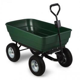 Waldbeck Green Elephant, zelený, zahradní vozík, 125 l, 400 kg, vyklápěcí