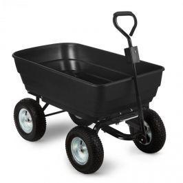 Waldbeck Black Elephant zahradní vozík, 125 l, 400 kg, vyklápěcí, černý