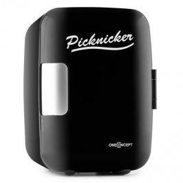 Oneconcept Picknicker, černý, termobox s funkcí chlazení / udržení v teple, mini, 4 l, EMARK certifikát