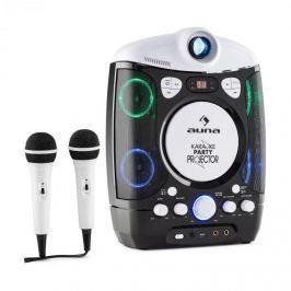 Auna Kara Projectura, černošedý, karaoke systém s projektorem, LED světelná show