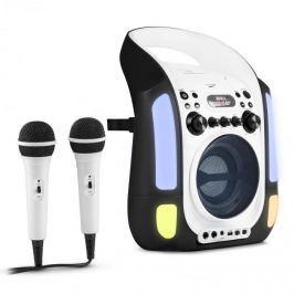 Auna Kara Illumina, černý, karaoke systém, CD, USB, MP3, LED světelná show, 2x mikrofon, přenosný