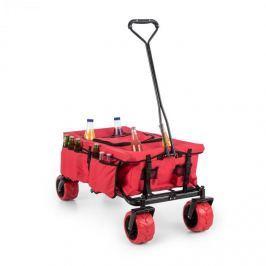 Waldbeck Red Devil, červený, ruční vozík, skládací, 68 kg, boční kapsy