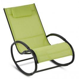 Blumfeldt Retiro houpací křeslo, hliník, polyester, zelená barva