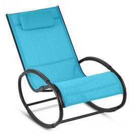 Blumfeldt Retiro houpací křeslo, hliník, polyester, modrá barva