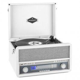 Auna Epoque 1907, retro audio systém, gramofon, bluetooth, MC, USB, CD, AUX