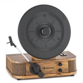 Auna Verticale S, gramofon s retro designem, vertikální točny, USB, MP3, linkový výstup
