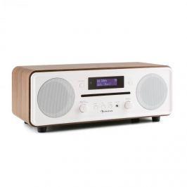 Auna Melodia CD, ořechová barva, DAB + / FM stolní rádio, CD přehrávač, bluetooth, alarm, opakované buzení