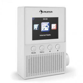 """Auna Digi Plug, bílé, internetové rádio do zásuvky, 2,4 """"TFT, ovládání přes aplikaci, WLAN"""