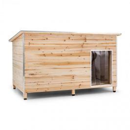 Oneconcept Schloss Wuff, psí bouda, velikost L, 90 x 120 x 90 cm, izolovaná, závětří, dřevo