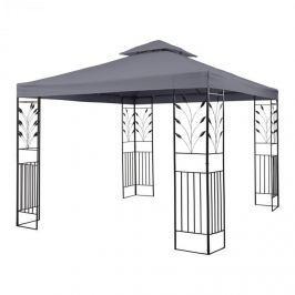 Blumfeldt Odeon Grey, tmavošedý, zahradní pavilon, altán, ocel, polyester, 3 x 3 m