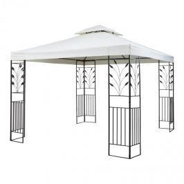 Blumfeldt Odeon Grey, světle béžový, zahradní pavilon, altán, ocel, polyester, 3 x 3 m