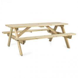 Blumfeldt Picknicker 180, piknikový stůl, zahradní nábytek, 32 mm, borovicové dřevo, 45 kg