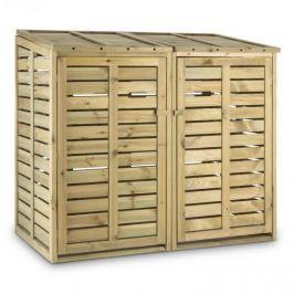 Waldbeck Ordnungshüter 2T, box na popelnice, 14 x 130 x 97 cm (ŠxVxH), 2 koše, FSC - borovice