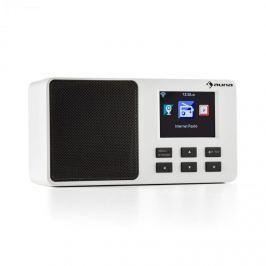 "Auna IR-110, bílé, internetové rádio, 2,4 ""TFT barevný displej, akumulátor, W-LAN, USB"