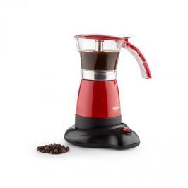 Oneconcept Funpresso, červený, vařič na espresso, elektrický, 6 šálků, 300 ml