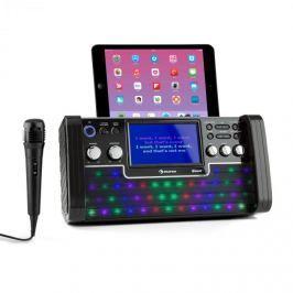 Auna DiscoFever Bluetooth karaoke zařízení LED 7'' TFT displej CD USB