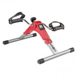 Klarfit Spinmin Pro Mini Bike, pedálový přístroj na cvičení, displej, sklápěcí, červená barva