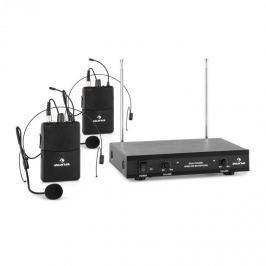 Auna VHF-2-HS 2kanálová VHF mikrofonní sada 2x headset 50 m