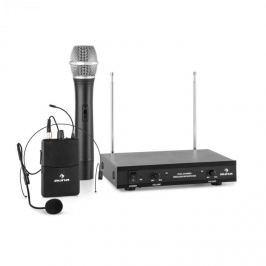 Auna VHF-2-HS 2kanálová VHF mikrofonní sada 1x headset 1x ruční mikrofon 50 m