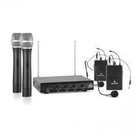 Auna VHF-4-H-HS 4kanálová VHF mikrofonní sada 2x headset 2x ruční mikrofon 50 m