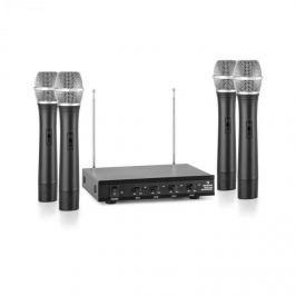 Auna VHF-4-H 4kanálová VHF mikrofonní sada 4x ruční mikrofon 50 m
