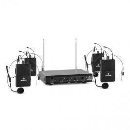 Auna VHF-4-HS 4kanálová VHF mikrofonní sada 4x headset 50 m