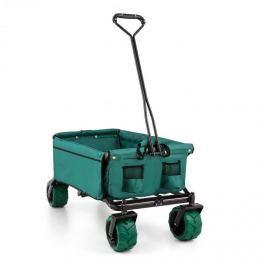Waldbeck The Green ruční vozík, sklápěcí, 70 kg, 90 l, široká kolečka 10 cm, zelený