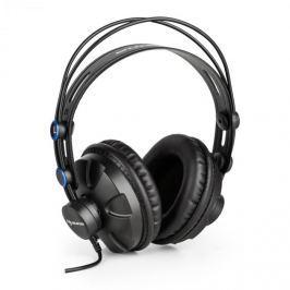 Auna HR-580 studiová sluchátka over-ear, sluchátka uzavřená, modrá barva