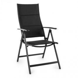 Blumfeldt Stylo Royal Black, černá, skládací židle, hliník