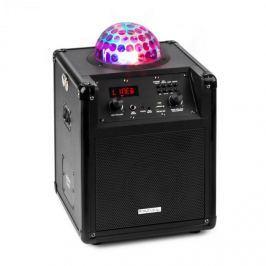 Ibiza Kube 60, černý, přenosný bluetooth reproduktor, box, USB, SD, AUX, FM, baterie