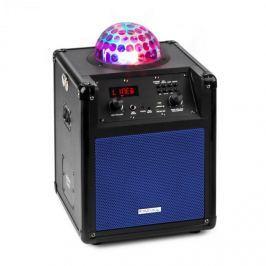 Ibiza Kube 60, modrý, přenosný bluetooth reproduktor, box, USB, SD, AUX, FM, baterie