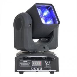 Ibiza LMH410Z, otočná hlava, pohyblivá hlavice, Moving Head, 4 x 10 W LED RGBW 4 v 1, Zoom, DMX, dálkový ovladač