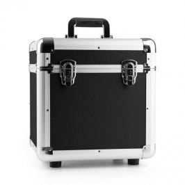 """Power Dynamics RC100, černý, 12"""", hliníkový kufr na desky, pouzdro na vinyly, 100 LP desek"""