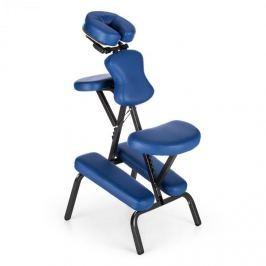 Klarfit MS 300 masážní křeslo tetovací křeslo 120 kg přenosná taška modrá barva