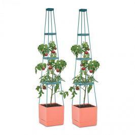 Waldbeck Tomato Tower květináč na rajčata set dvou kusů 25x150x25cm mřížka na upínání PP