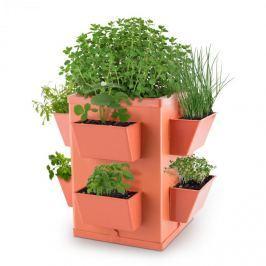 Waldbeck Herbie Hero květináč 8 misek na rostliny PP cihlová barva