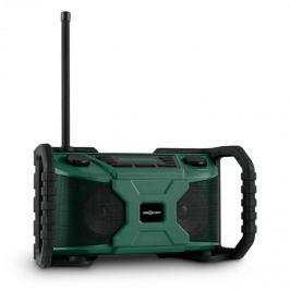 Oneconcept Workside, zelený, outdoorový reproduktor s rádiem, DAB +, FM, bluetooth, USB, baterie