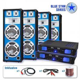 """Electronic-Star PA set Blue Star Series """"Bassveteran Quadro"""" 3200 W"""