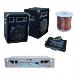 Electronic-Star DJ PA zesilovač 800W 2x reproduktory 1x mikrofonní zesilovač