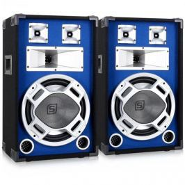 Skytec Souprava PA reproduktorů SKYTEC, 30 CM, modrý LEd světelná efekt, 2x600W