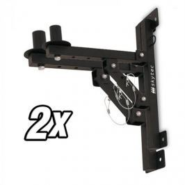 Skytec 2x nástěnný držák PA reproduktorů, stativ, černý, 50 kg max.
