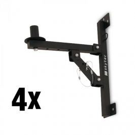 Skytec 4x nástěnný držák PA reproduktorů, stativ, černý, 50 kg max.