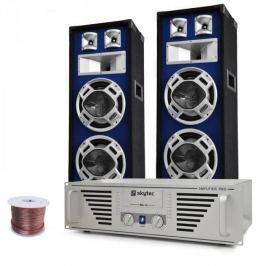"Electronic-Star DJ set ""Bass Titan"", zesilovač, reproduktory, 1600W"