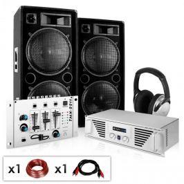 """Electronic-Star DJ set """"NY Fireblade"""" zesilovač, repro, mixpult, 2000W"""