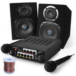 Electronic-Star Karaoke set 'EQ Sing', zesilovač, reproduktory, mikrofony