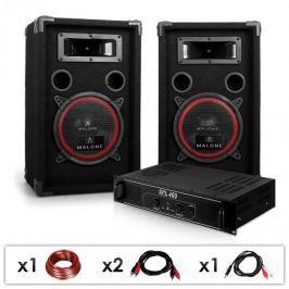Electronic-Star DJ PA set DJ 12, PA zesilovač, repro, 1000W